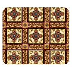 Batik Flower Brown Double Sided Flano Blanket (small)  by AnjaniArt