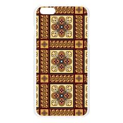 Batik Flower Brown Apple Seamless iPhone 6 Plus/6S Plus Case (Transparent) by AnjaniArt