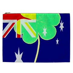 St  Patrick Australia And Ireland Irish Shamrock Australian Country Flag  Cosmetic Bag (xxl)  by yoursparklingshop
