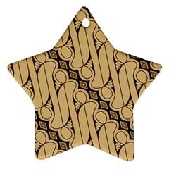 Batik Parang Rusak Seamless Star Ornament (two Sides)  by AnjaniArt