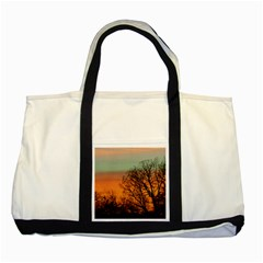 Twilight Sunset Sky Evening Clouds Two Tone Tote Bag