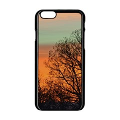 Twilight Sunset Sky Evening Clouds Apple Iphone 6/6s Black Enamel Case by Amaryn4rt