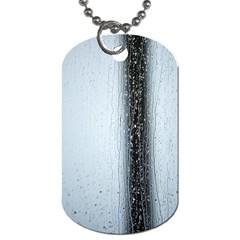 Rain Raindrop Drop Of Water Drip Dog Tag (two Sides)