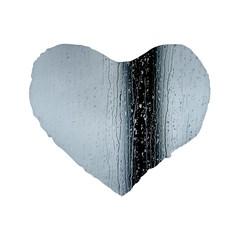 Rain Raindrop Drop Of Water Drip Standard 16  Premium Flano Heart Shape Cushions by Amaryn4rt