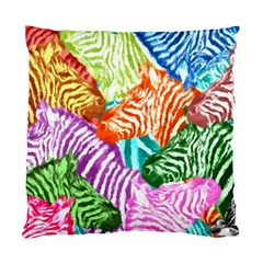 Zebra Colorful Abstract Collage Standard Cushion Case (one Side) by Amaryn4rt