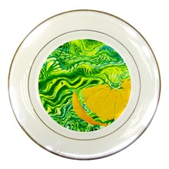 Zitro Abstract Sour Texture Food Porcelain Plates by Amaryn4rt