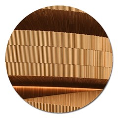 Architecture Art Boxes Brown Magnet 5  (round) by Amaryn4rt