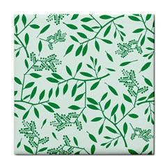 Leaves Foliage Green Wallpaper Tile Coasters by Amaryn4rt