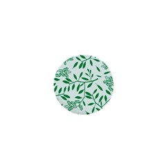 Leaves Foliage Green Wallpaper 1  Mini Buttons by Amaryn4rt