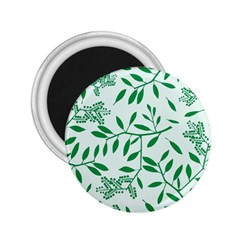 Leaves Foliage Green Wallpaper 2 25  Magnets by Amaryn4rt