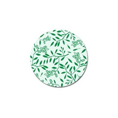 Leaves Foliage Green Wallpaper Golf Ball Marker (4 Pack) by Amaryn4rt