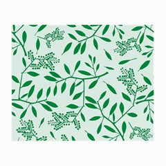 Leaves Foliage Green Wallpaper Small Glasses Cloth (2 Side) by Amaryn4rt