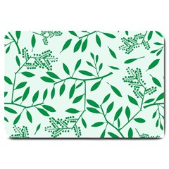 Leaves Foliage Green Wallpaper Large Doormat  by Amaryn4rt