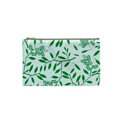 Leaves Foliage Green Wallpaper Cosmetic Bag (small)  by Amaryn4rt