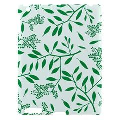 Leaves Foliage Green Wallpaper Apple Ipad 3/4 Hardshell Case by Amaryn4rt