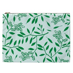 Leaves Foliage Green Wallpaper Cosmetic Bag (xxl)  by Amaryn4rt