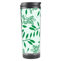 Leaves Foliage Green Wallpaper Travel Tumbler by Amaryn4rt