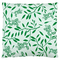 Leaves Foliage Green Wallpaper Large Flano Cushion Case (two Sides) by Amaryn4rt
