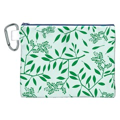 Leaves Foliage Green Wallpaper Canvas Cosmetic Bag (xxl) by Amaryn4rt