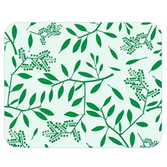 Leaves Foliage Green Wallpaper Double Sided Flano Blanket (medium)  by Amaryn4rt