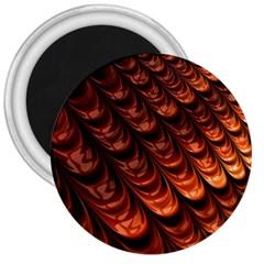 Fractal Mathematics Frax 3  Magnets by Amaryn4rt