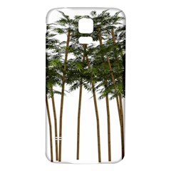 Bamboo Plant Wellness Digital Art Samsung Galaxy S5 Back Case (white)