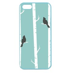 Birds Trees Birch Birch Trees Apple Seamless Iphone 5 Case (color) by Amaryn4rt