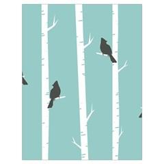 Birds Trees Birch Birch Trees Drawstring Bag (large)