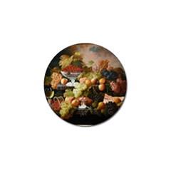 Abundance Of Fruit Severin Roesen Golf Ball Marker (4 Pack) by Amaryn4rt