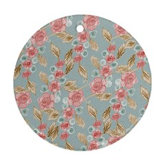 Background Page Template Floral Round Ornament (two Sides)  by Amaryn4rt