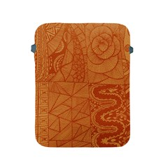Burnt Amber Orange Brown Abstract Apple Ipad 2/3/4 Protective Soft Cases by Amaryn4rt