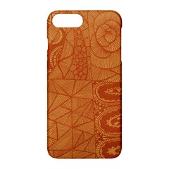 Burnt Amber Orange Brown Abstract Apple iPhone 7 Plus Hardshell Case by Amaryn4rt