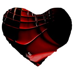 Fractal Mathematics Abstract Large 19  Premium Heart Shape Cushions by Amaryn4rt