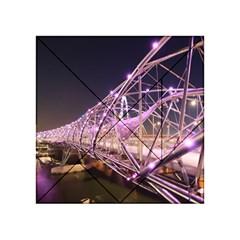 Helixbridge Bridge Lights Night Acrylic Tangram Puzzle (4  X 4 ) by Amaryn4rt