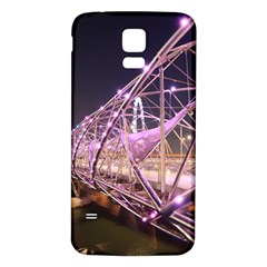 Helixbridge Bridge Lights Night Samsung Galaxy S5 Back Case (white) by Amaryn4rt