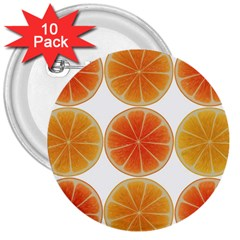 Orange Discs Orange Slices Fruit 3  Buttons (10 Pack)  by Amaryn4rt