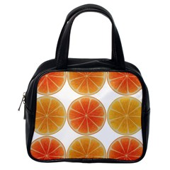 Orange Discs Orange Slices Fruit Classic Handbags (one Side)