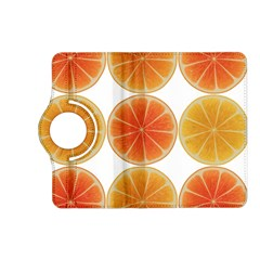 Orange Discs Orange Slices Fruit Kindle Fire Hd (2013) Flip 360 Case by Amaryn4rt
