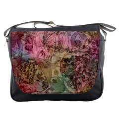 Texture Background Spring Colorful Messenger Bags