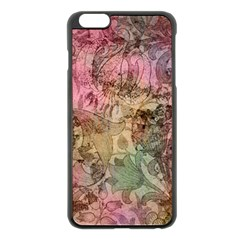 Texture Background Spring Colorful Apple Iphone 6 Plus/6s Plus Black Enamel Case by Amaryn4rt