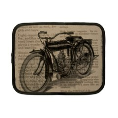 Vintage Collage Motorcycle Indian Netbook Case (small)  by Amaryn4rt