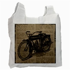 Vintage Collage Motorcycle Indian Recycle Bag (one Side) by Amaryn4rt