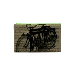 Vintage Collage Motorcycle Indian Cosmetic Bag (xs)