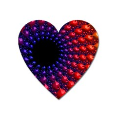 Fractal Mathematics Abstract Heart Magnet by Amaryn4rt