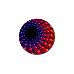Fractal Mathematics Abstract Golf Ball Marker by Amaryn4rt
