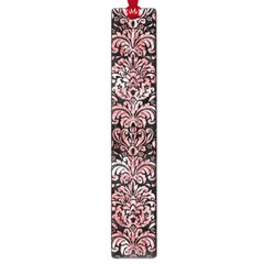 Damask2 Black Marble & Red & White Marble Large Book Mark by trendistuff