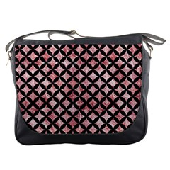 Circles3 Black Marble & Red & White Marble (r) Messenger Bag by trendistuff