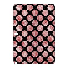 Circles2 Black Marble & Red & White Marble Samsung Galaxy Tab Pro 12 2 Hardshell Case by trendistuff