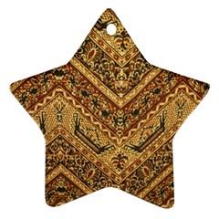 Batik Pekalongan Star Ornament (two Sides)  by AnjaniArt