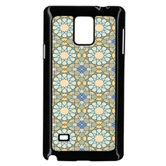 Arabesque Flower Star Samsung Galaxy Note 4 Case (black) by AnjaniArt